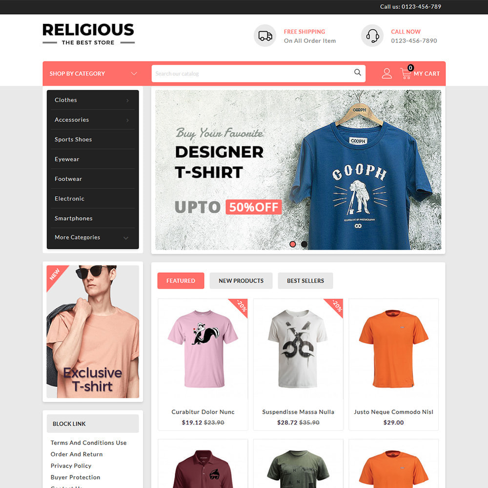 theme - Mode & Chaussures - Religious - T-Shirts Store - 2