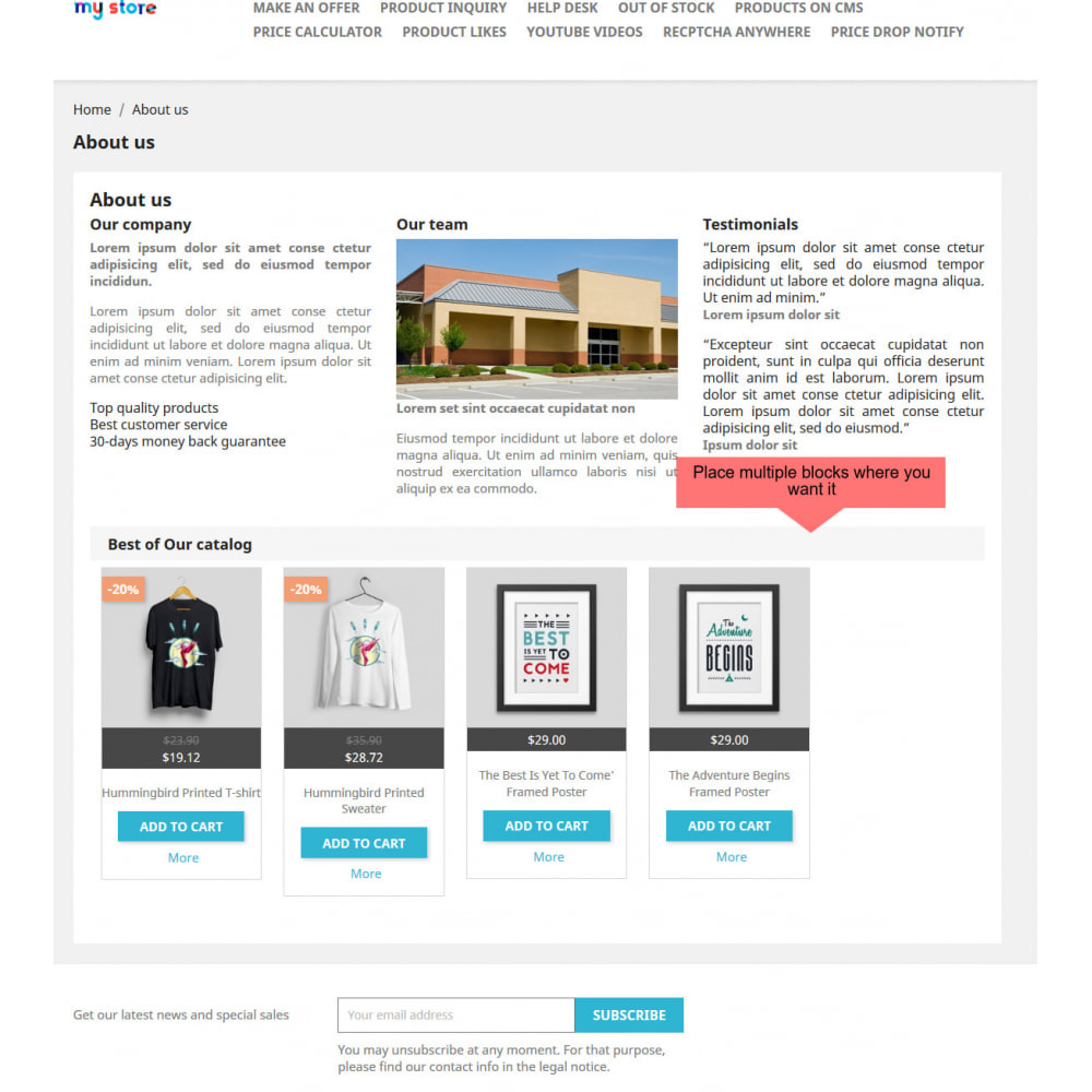 module - Products on Homepage - Products On CMS - 5