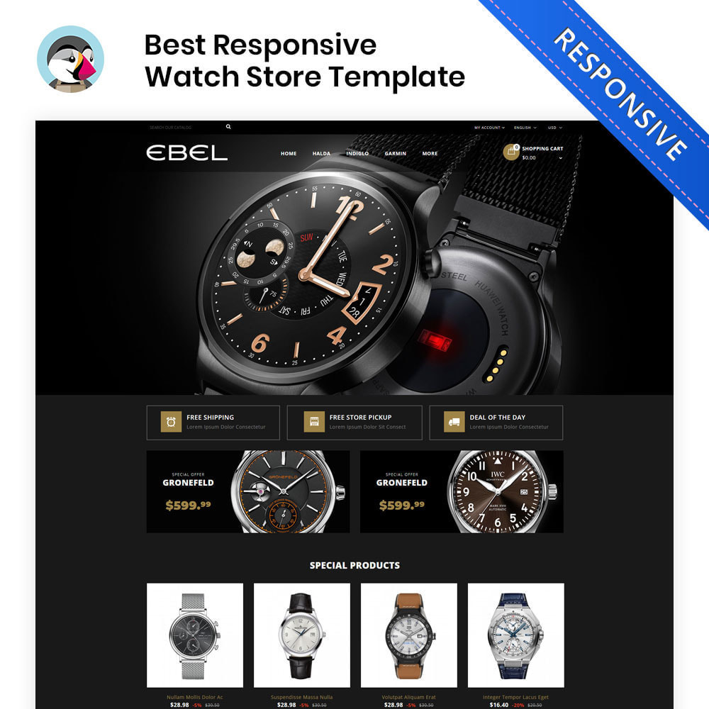 theme - Fashion & Shoes - Ebel Watch Store - 1