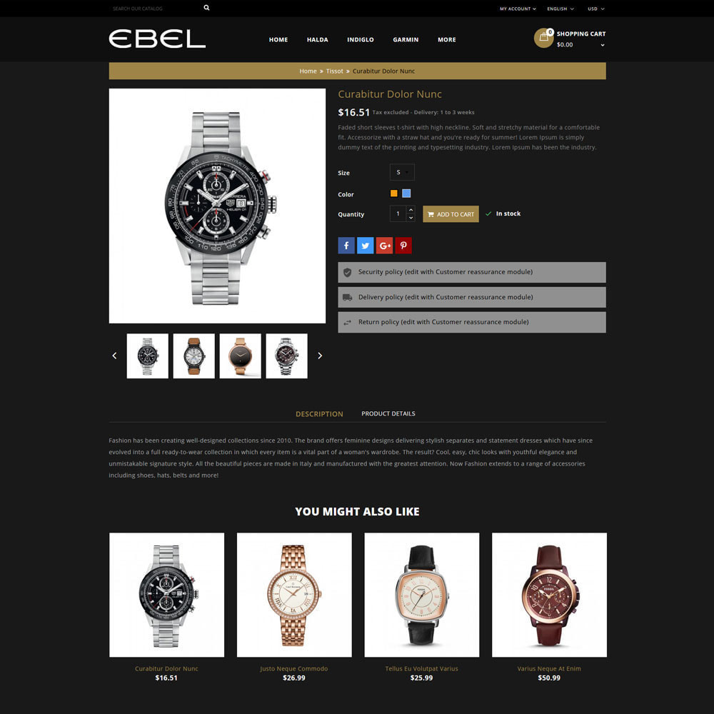 theme - Mode & Chaussures - Ebel Magasin de montres - 6