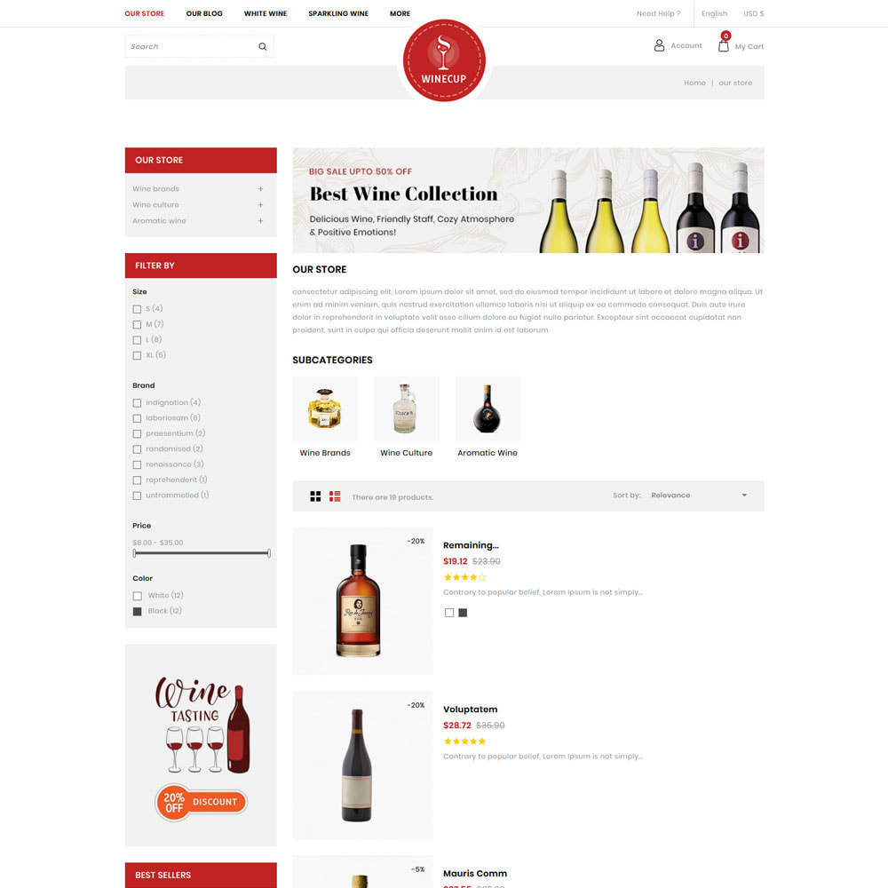 theme - Drink & Wine - Winecup - The Wine Shop - 5