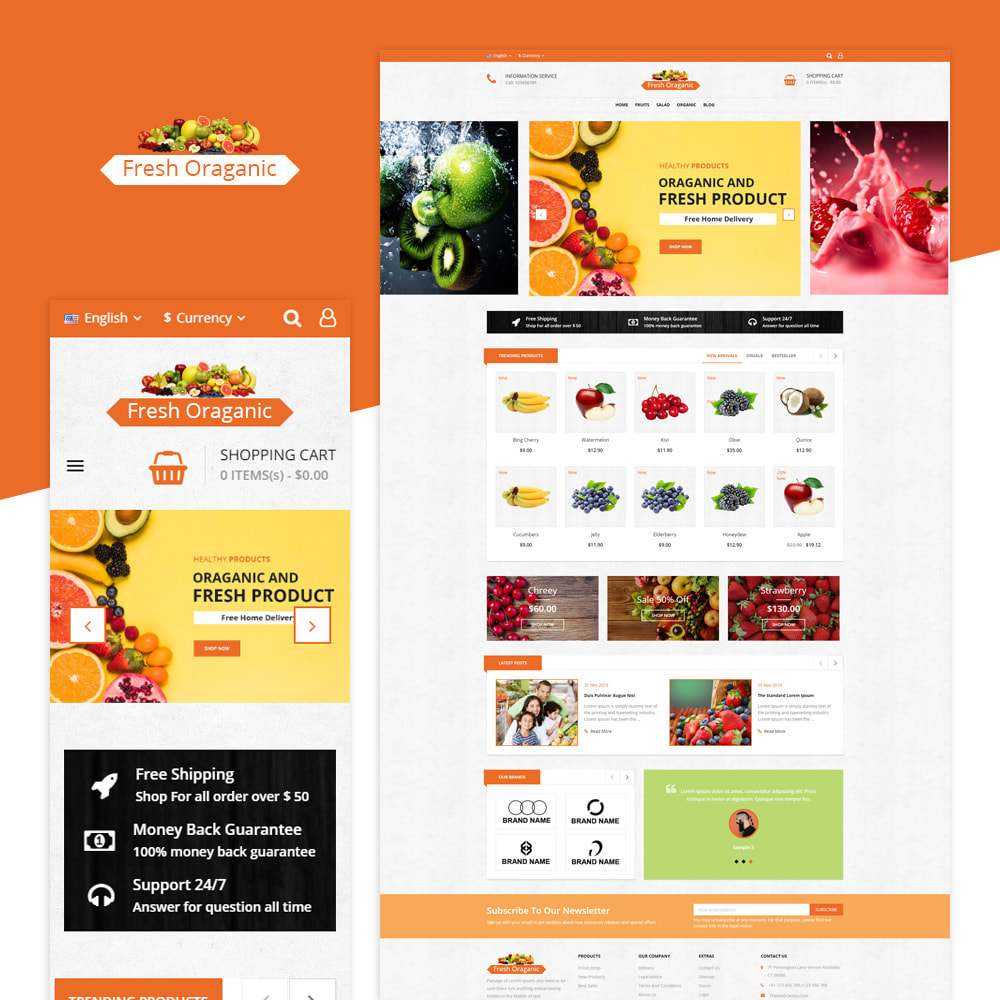 theme - Alimentation & Restauration - Magasin bio - 1