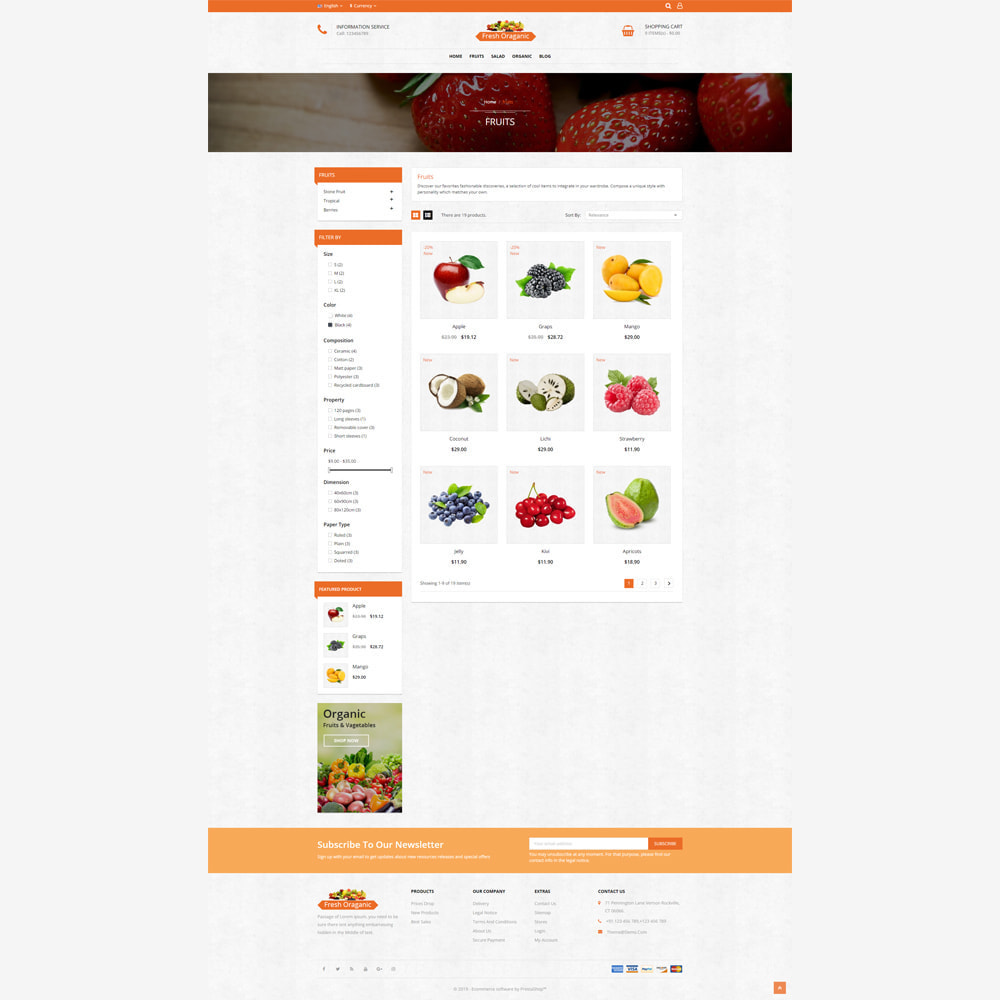 theme - Alimentation & Restauration - Magasin bio - 3