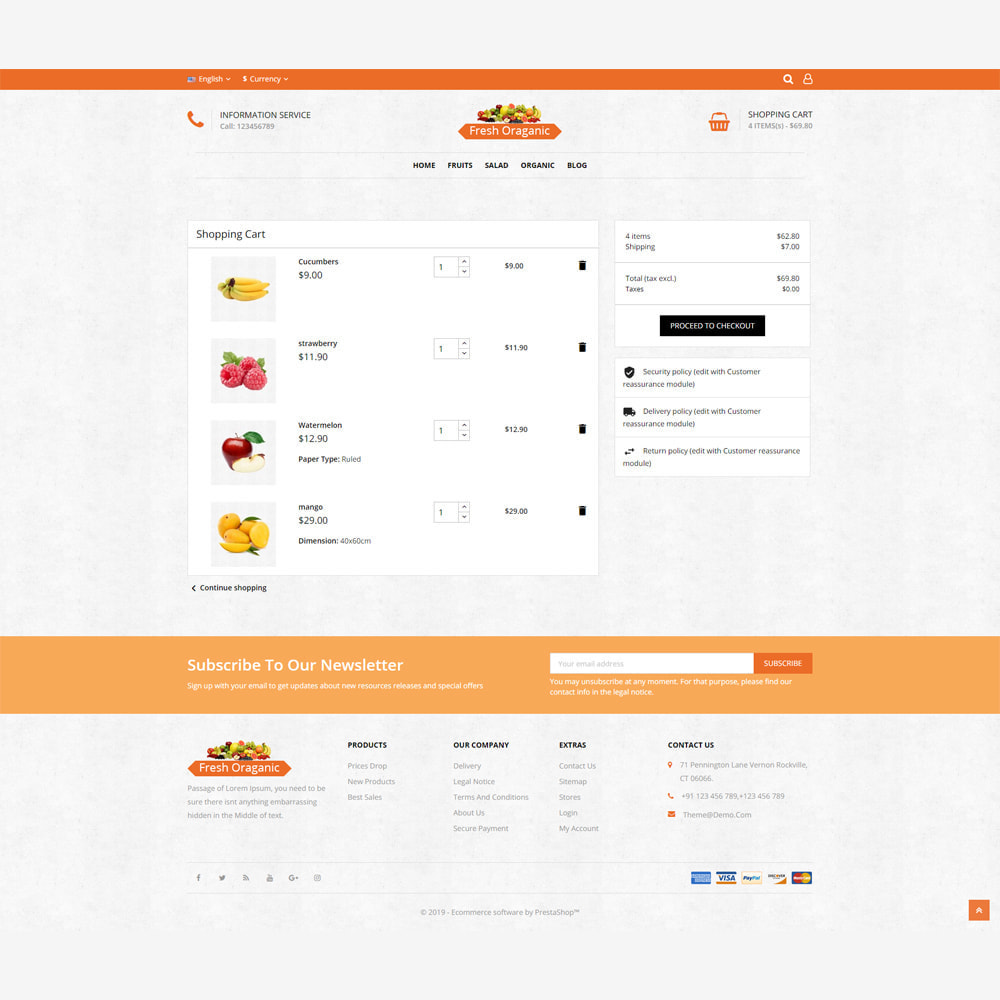 theme - Alimentation & Restauration - Magasin bio - 6