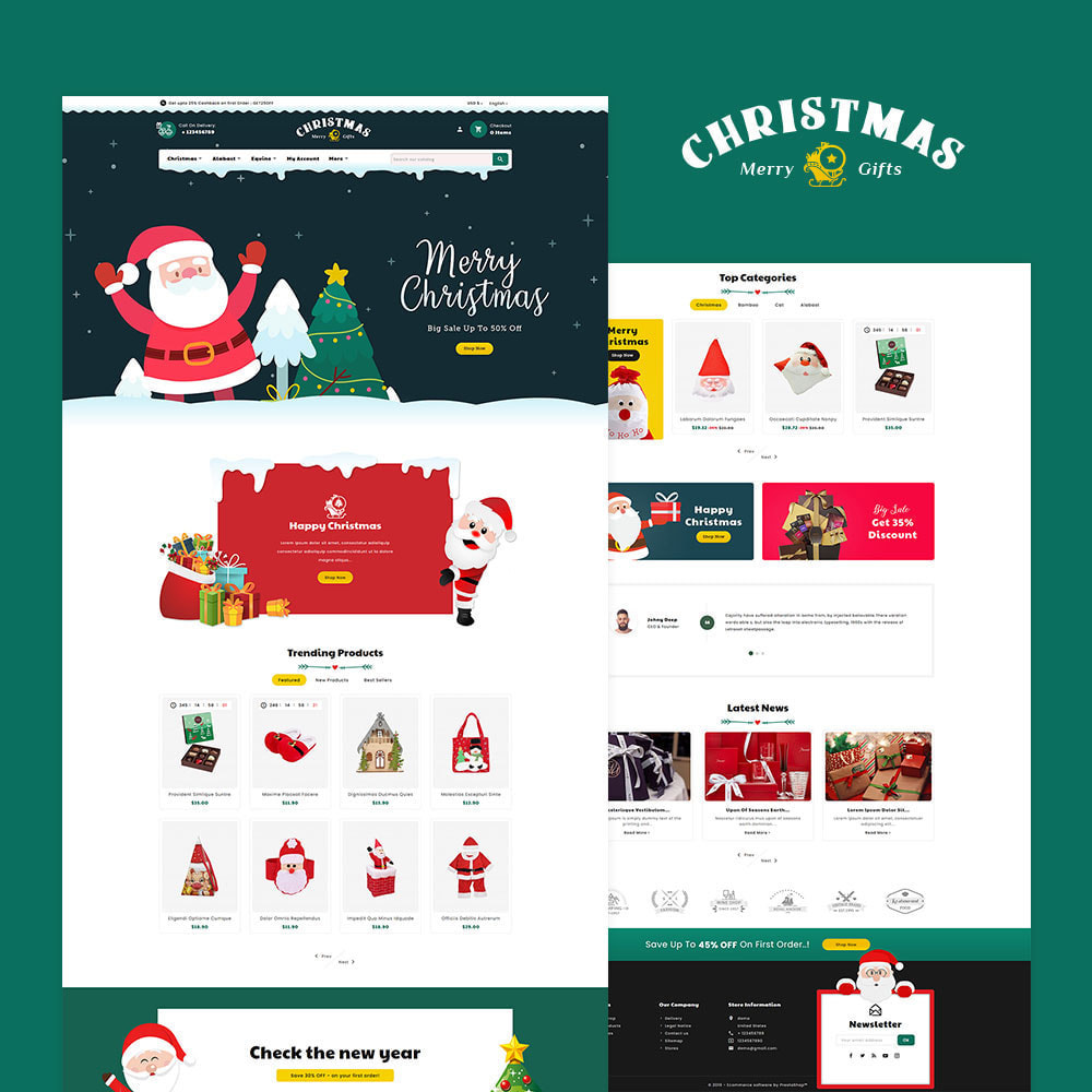 theme - Presentes, Flores & Comemorações - Merry Christmas & Gifts - 2