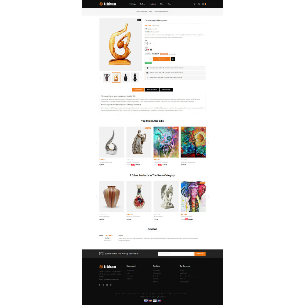 theme - Art & Culture - Artrisum - Art & Print Store - 5