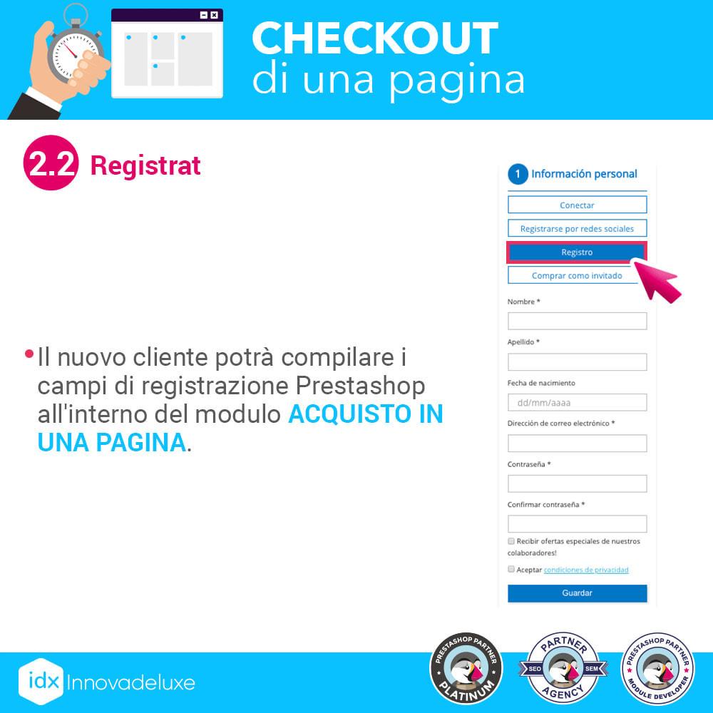 module - Express Checkout - Checkout in una pagina - Processo di acquisto veloce - 5