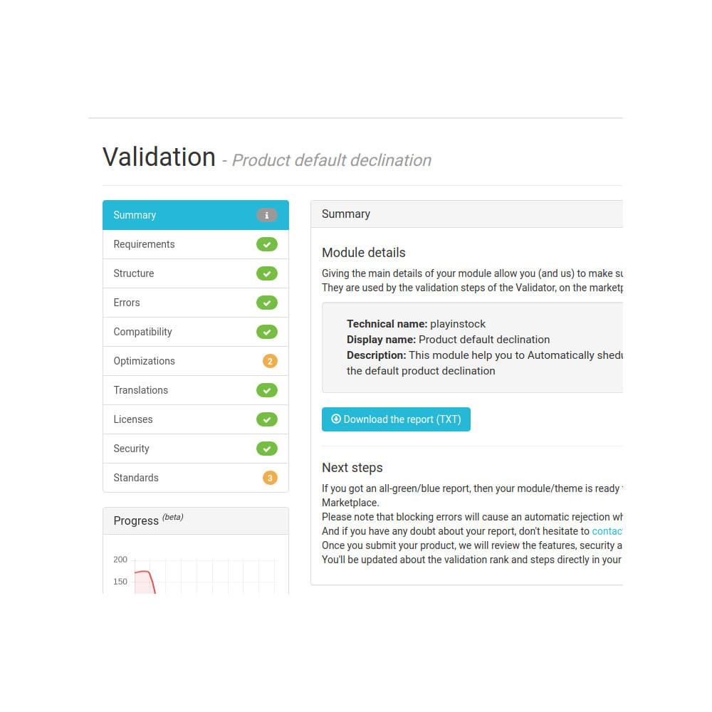 module - Déclinaisons & Personnalisation de produits - Playinstock - gestion des déclinaisons par défaut - 6