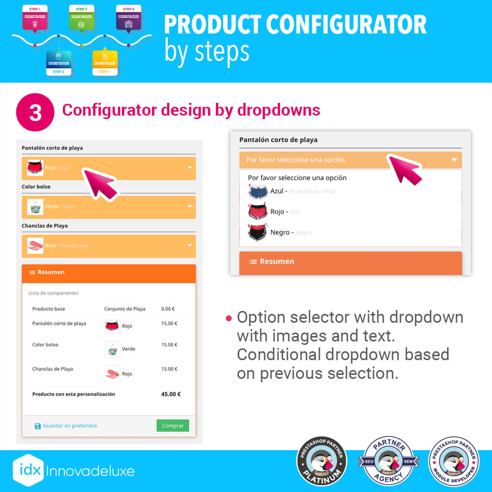 module - Combinations & Product Customization - Advanced product configurator by steps - 4