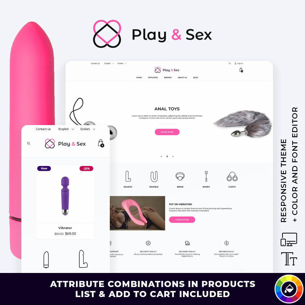 theme - Lenceria y Adultos - Play & Sex - SexShop - 1