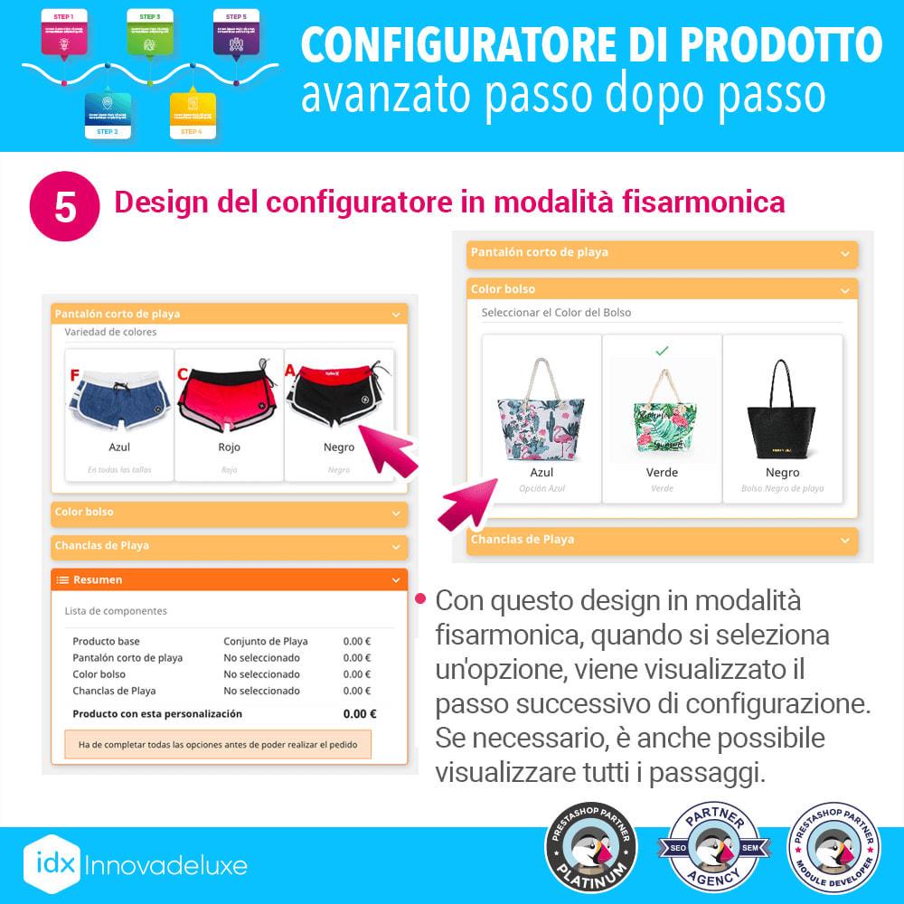 module - Combinazioni & Personalizzazione Prodotti - Configuratore di prodotto avanzato passo dopo passo - 6
