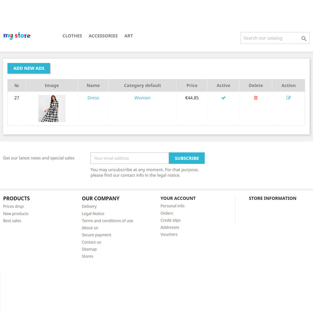 module - Stworzenia platformy handlowej - Tablica ogłoszeń dla klientów - 5