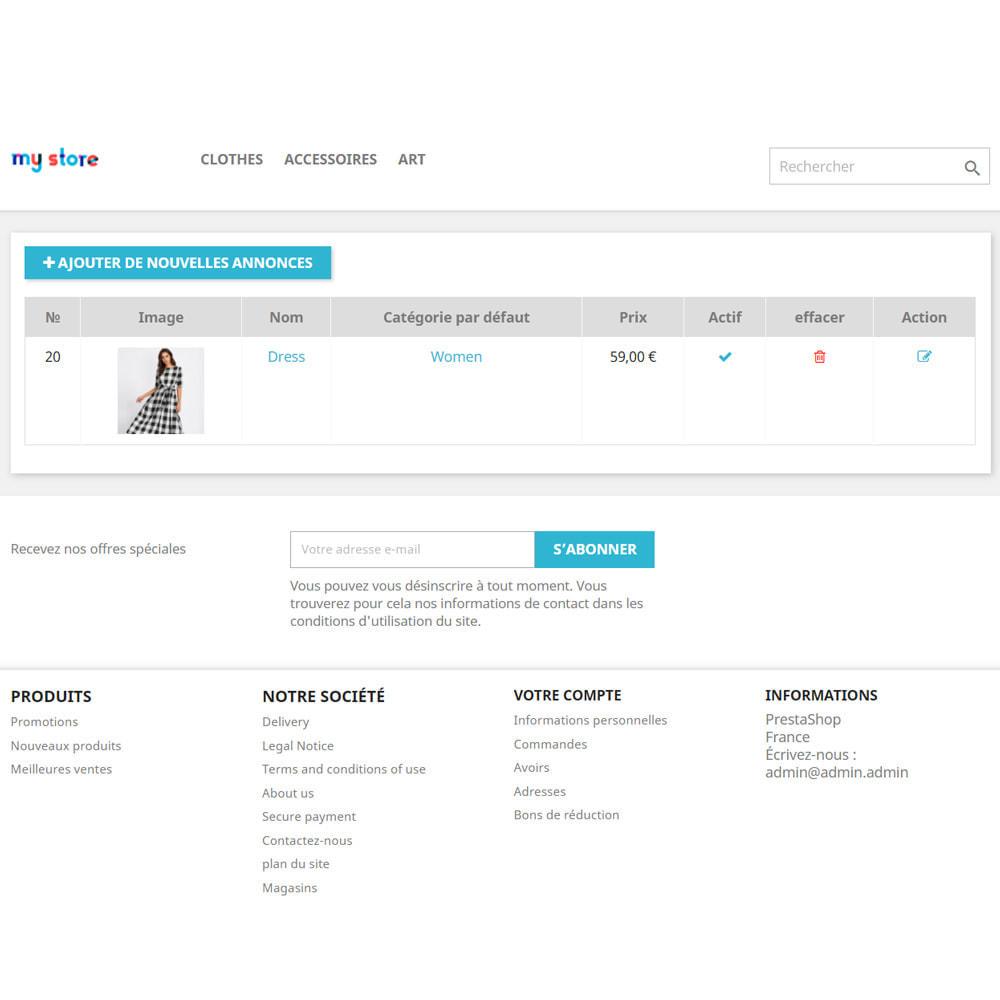 module - Création de Marketplace - Tableau d'affichage pour les clients - 5