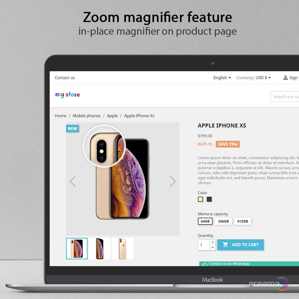 module - Sliders & Galeries - Amazing gallery: responsive images gallery + Zoom - 3