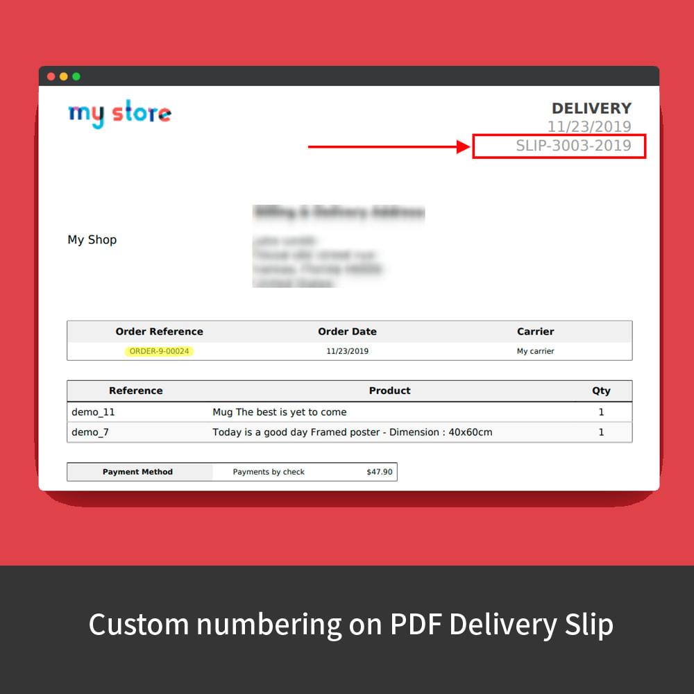 module - Buchhaltung & Rechnung - Custom Order Numbers - 9