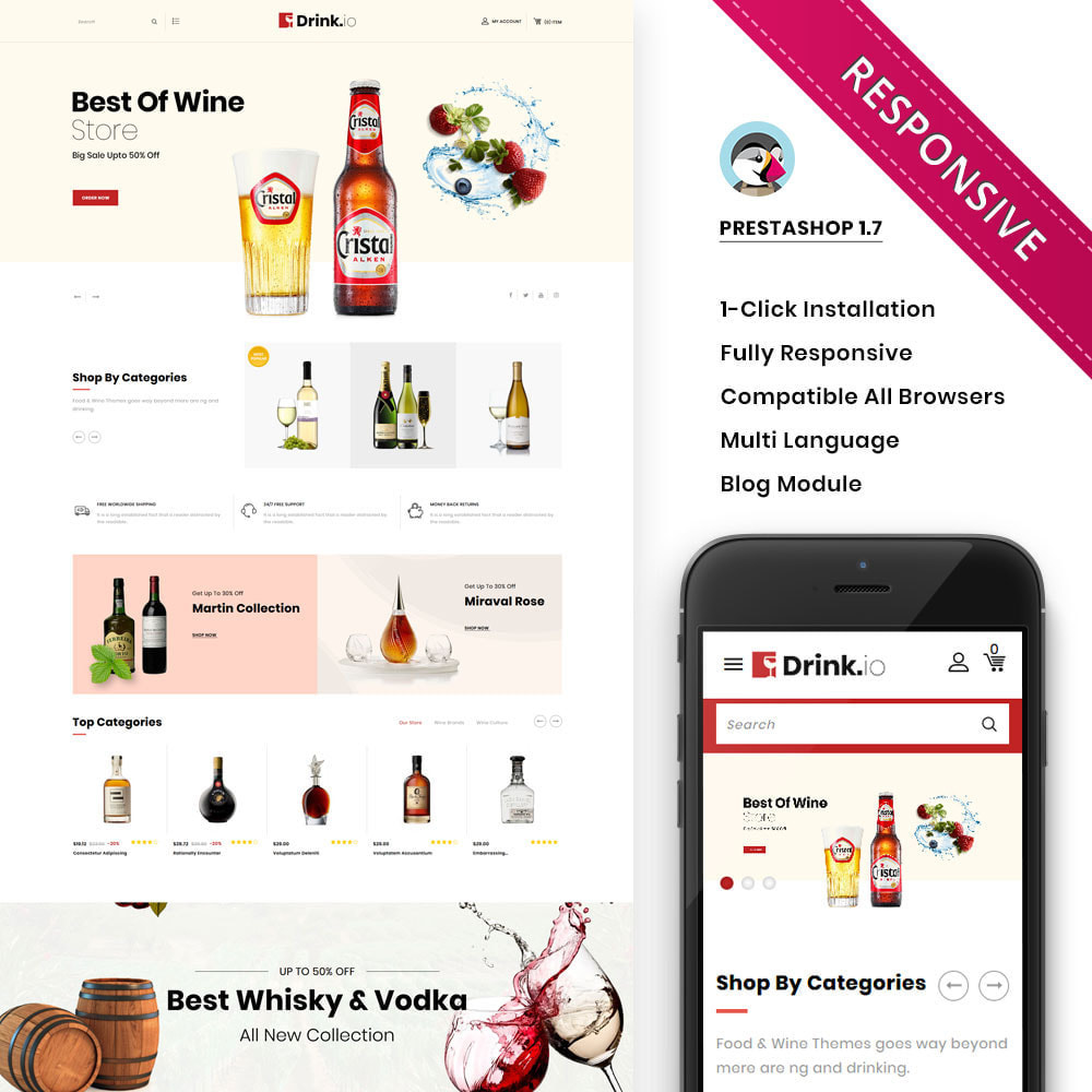 theme - Drink & Tobacco - Drinkio - The Wine Store - 1