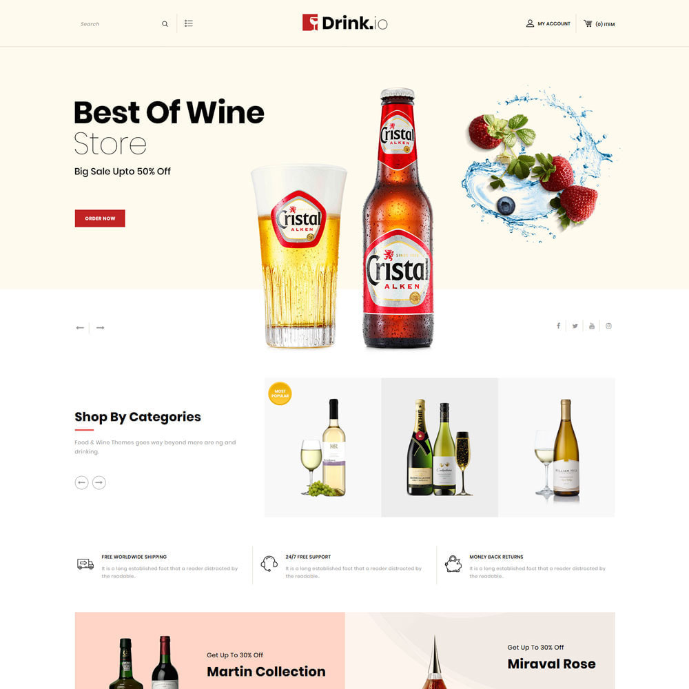 theme - Drink & Tobacco - Drinkio - The Wine Store - 3