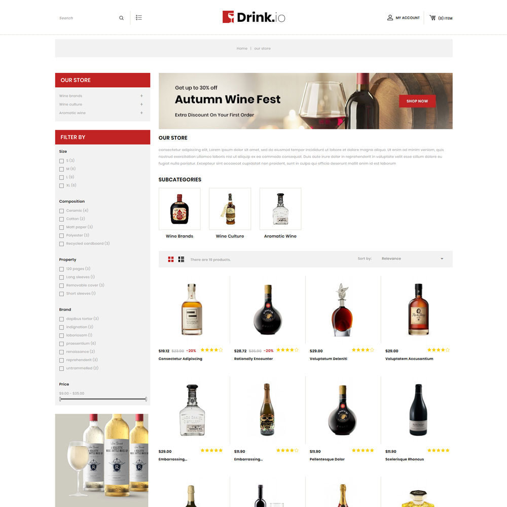 theme - Drink & Tobacco - Drinkio - The Wine Store - 4