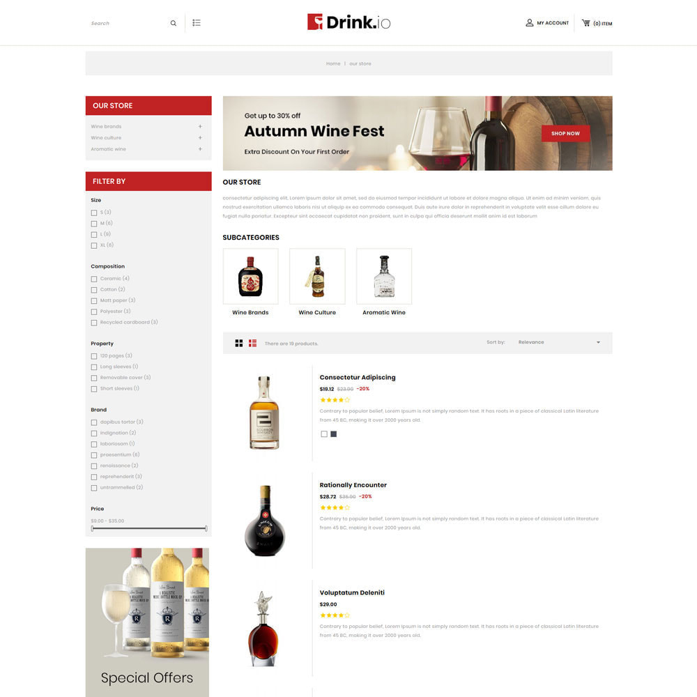 theme - Drink & Tobacco - Drinkio - The Wine Store - 5