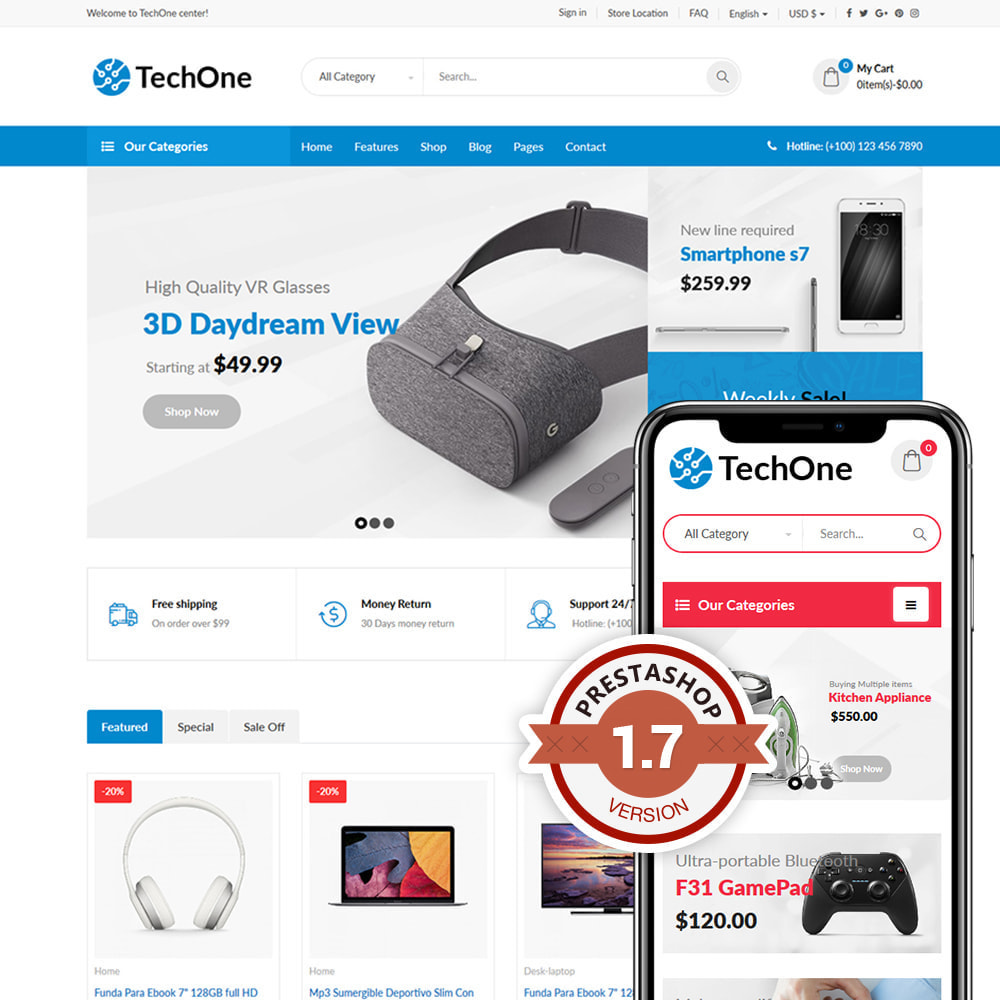 theme - Electronics & Computers - TechOne - Digital Store - 1