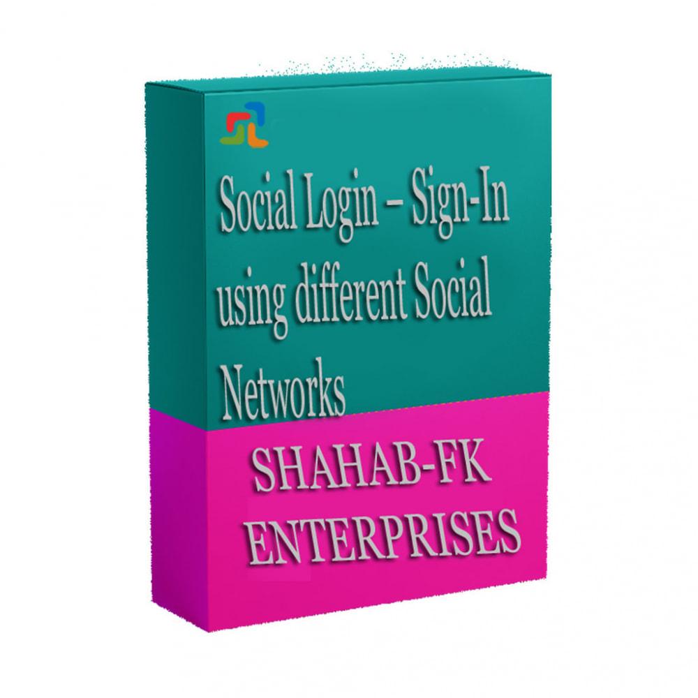 module - Login/Connessione - Accesso sociale tramite i social network - 8