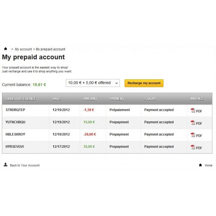 module - Pagamento Anticipato - Prepayment - Prepaid account - 3