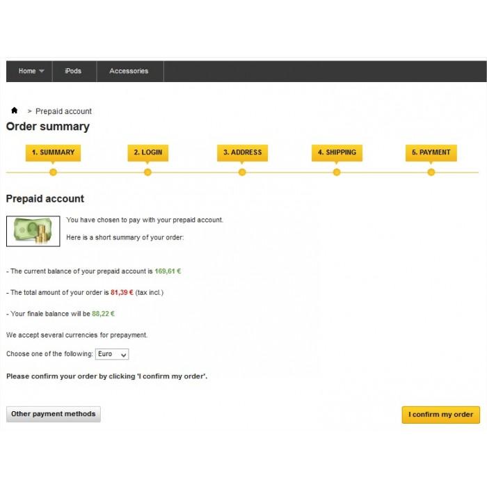 module - Pagamento Anticipato - Prepayment - Prepaid account - 5