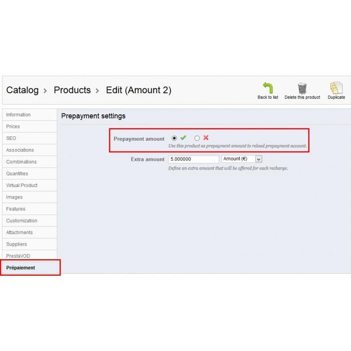 module - Pagamento Anticipato - Prepayment - Prepaid account - 8