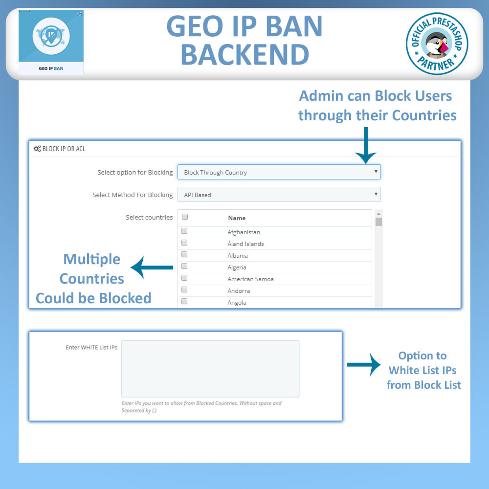 module - Security & Access - Geo IP Ban - Block Bots & Users based on IP or Country - 3