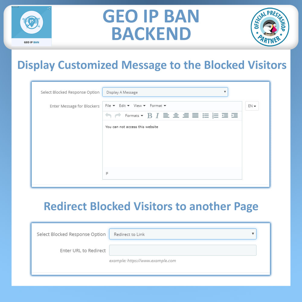 module - Security & Access - Geo IP Ban - Block IP Bots & Users by IP or Country - 4