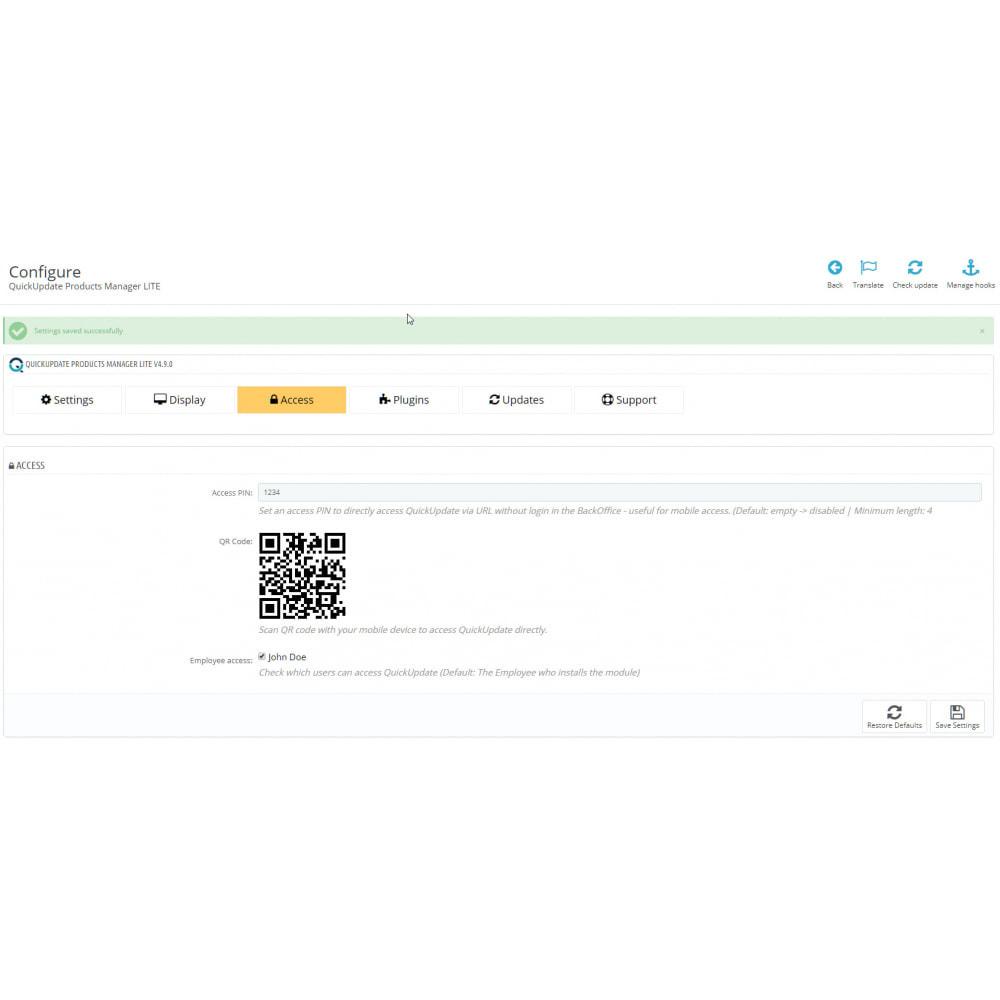 module - Snelle & seriematige bewerking - QuickUpdate Products Manager LITE - 3