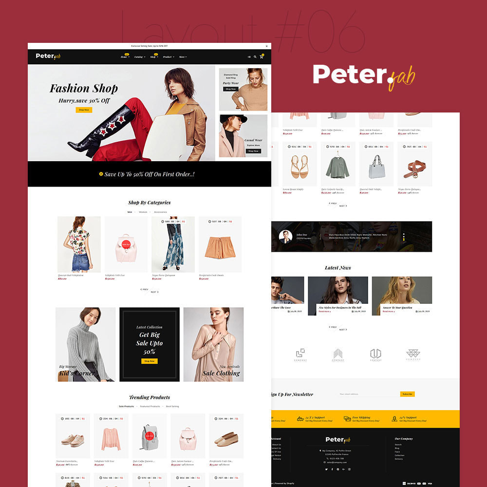 theme - Fashion & Shoes - Peter - Fashion Boutique For Creatives - 7