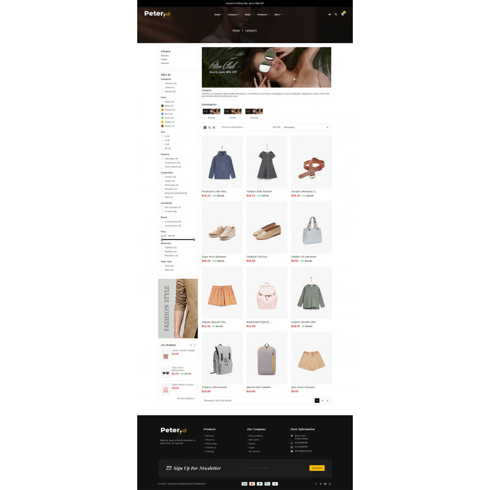 theme - Fashion & Shoes - Peter - Fashion Boutique For Creatives - 11