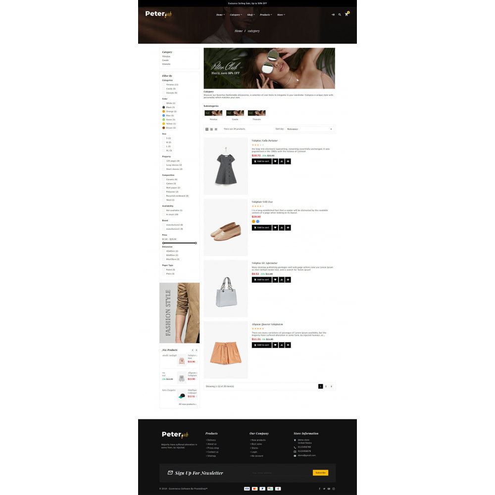 theme - Fashion & Shoes - Peter - Fashion Boutique For Creatives - 12