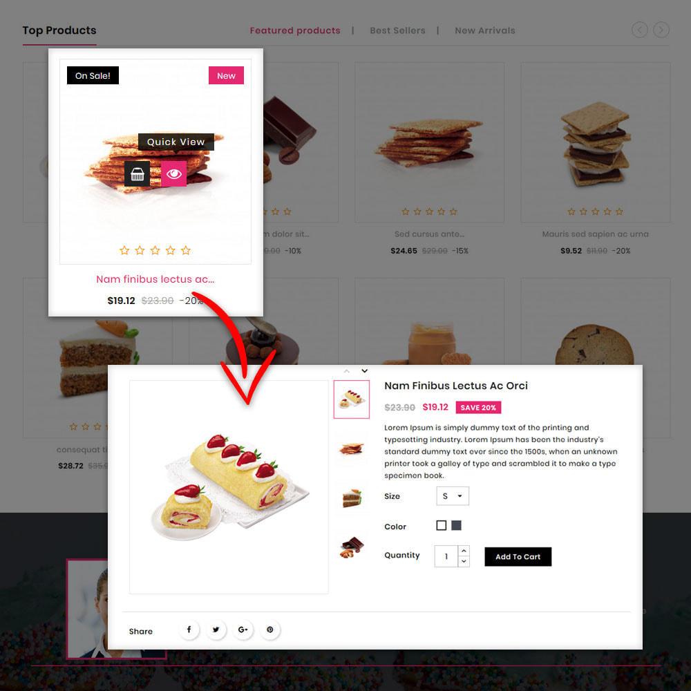 theme - Gastronomía y Restauración - The Bakery Store - 6