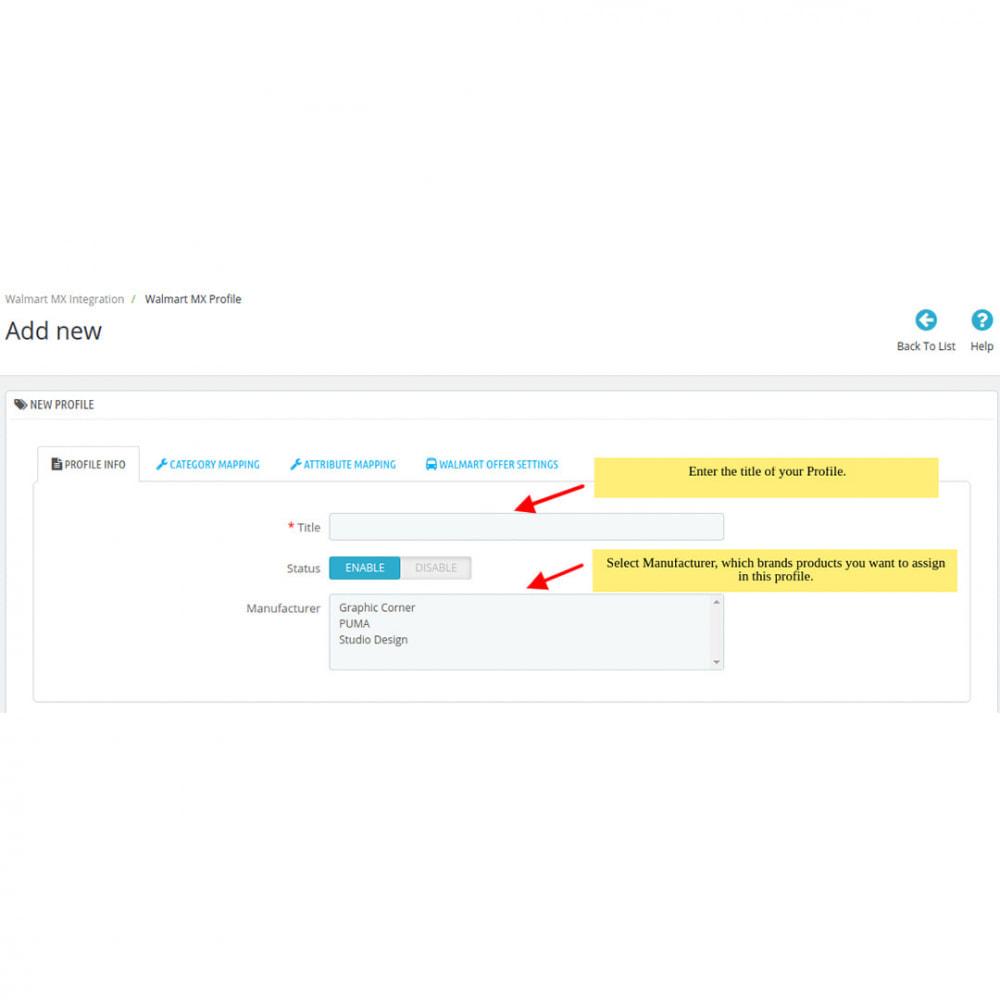 module - Datenabbindungen zu Drittsystemen (CRM, ERP, ...) - Walmart Mexico Integration - 7