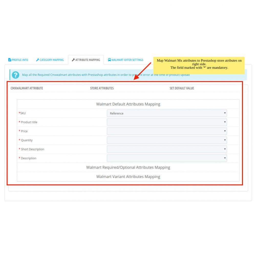 module - Datenabbindungen zu Drittsystemen (CRM, ERP, ...) - Walmart Mexico Integration - 9