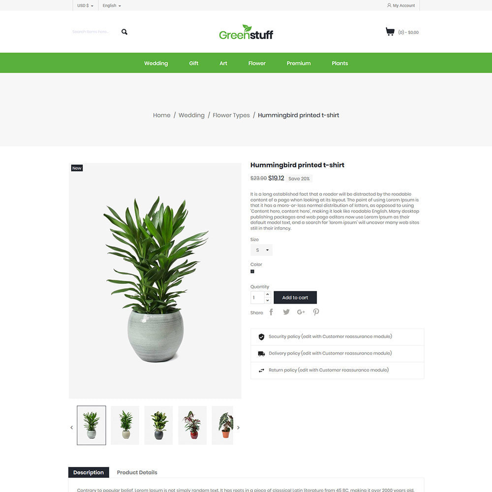 theme - Home & Garden - Plant Garden  - House Pot Tree Store - 5
