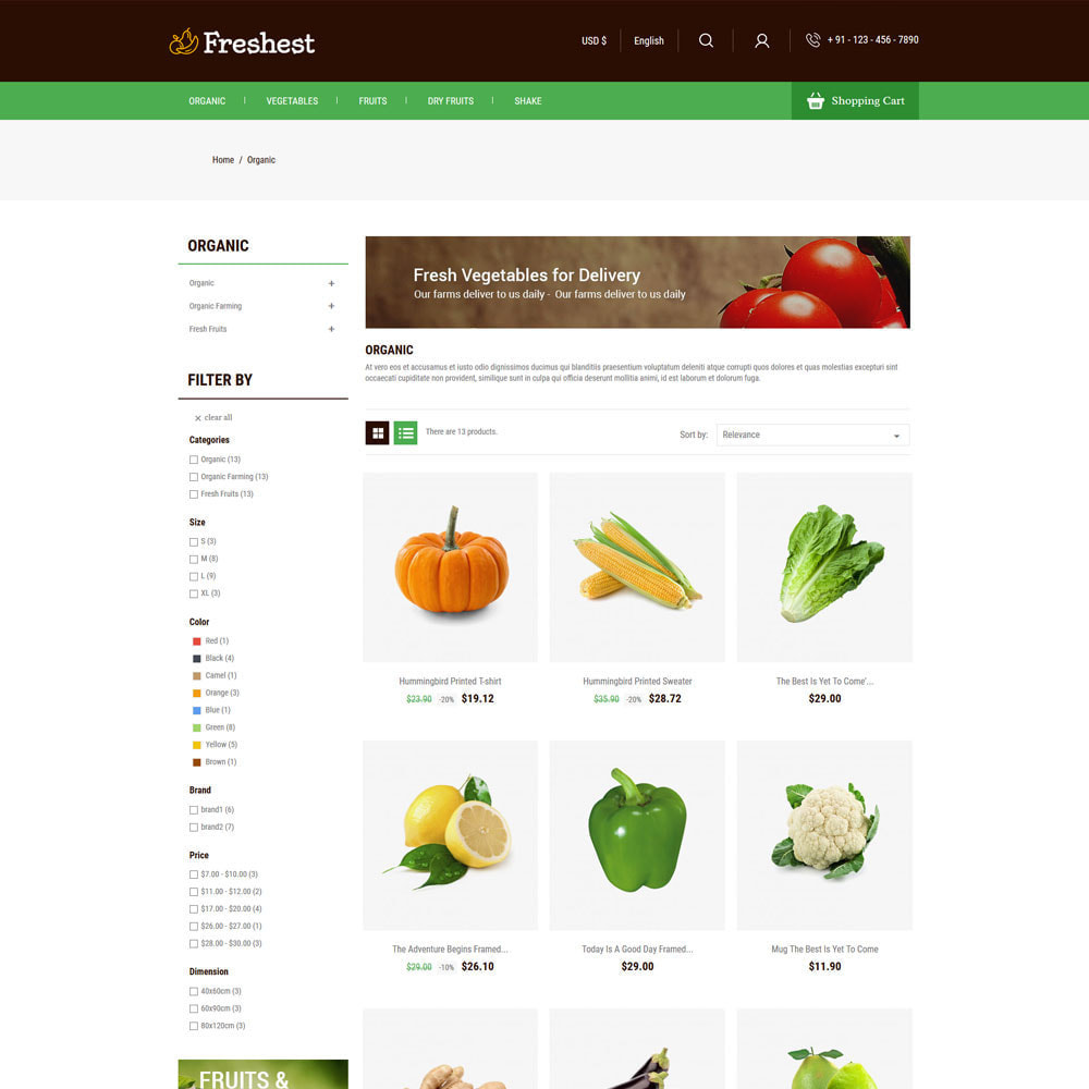 theme - Alimentos & Restaurantes - Fresh Fruits - Vegitables Grocery Store - 3