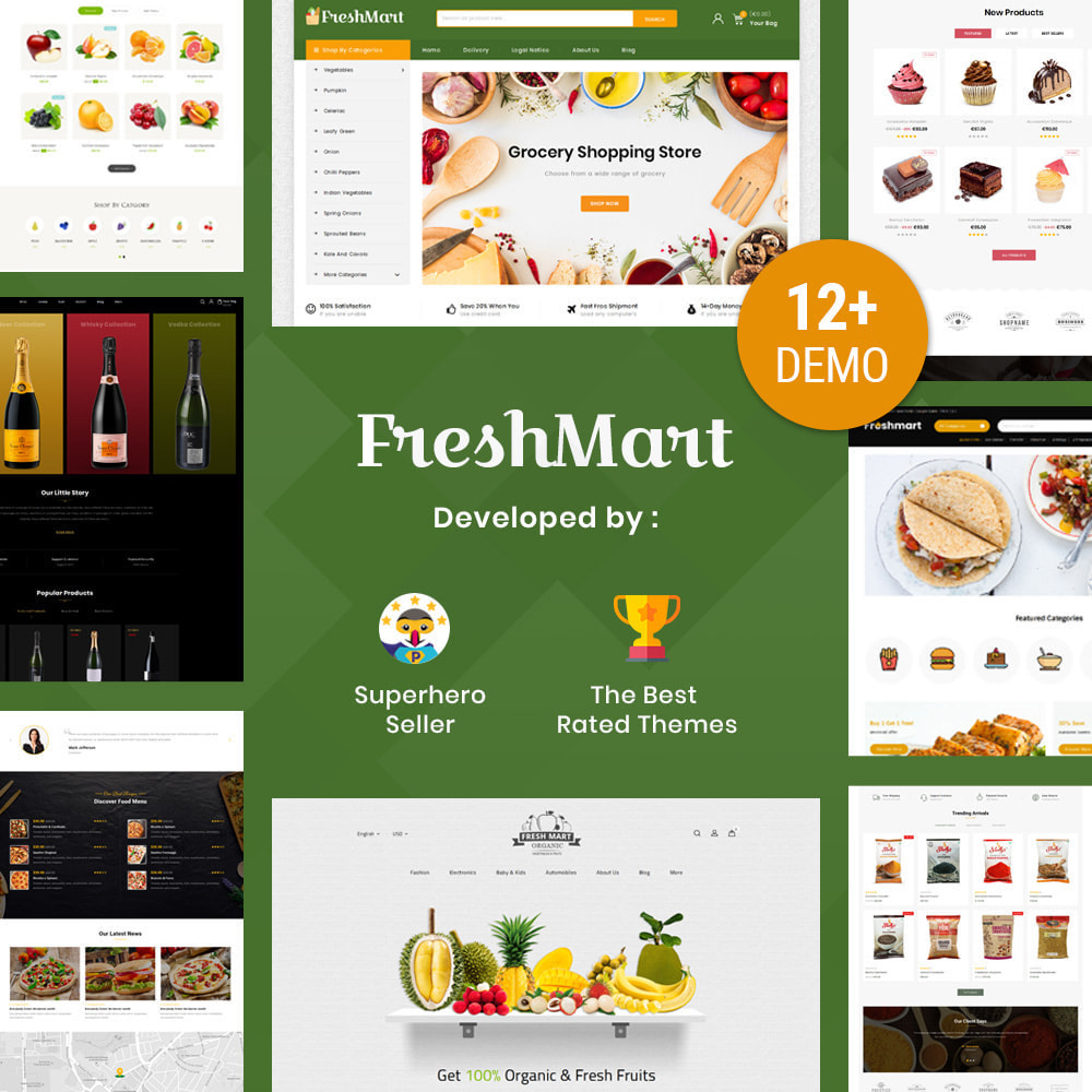 theme - Alimentos & Restaurantes - Farm Fresh - Super Market Store - 1