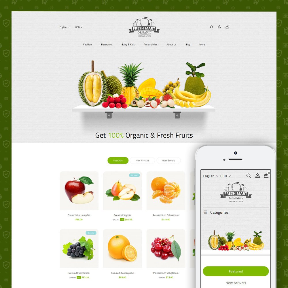 theme - Alimentos & Restaurantes - Farm Fresh - Super Market Store - 2