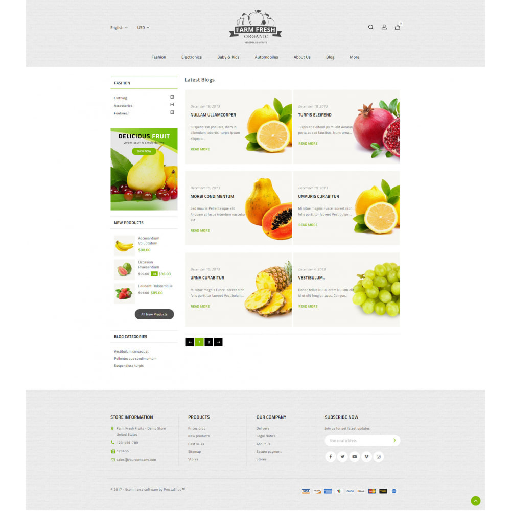 theme - Alimentos & Restaurantes - Farm Fresh - Super Market Store - 18