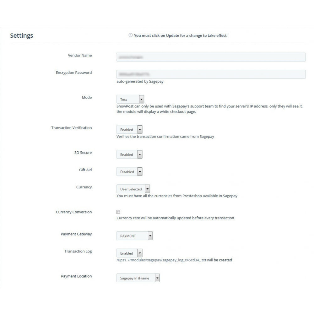module - Оплата банковской картой или с помощью электронного кошелька - Sage Pay (Payment +Token System) - 6