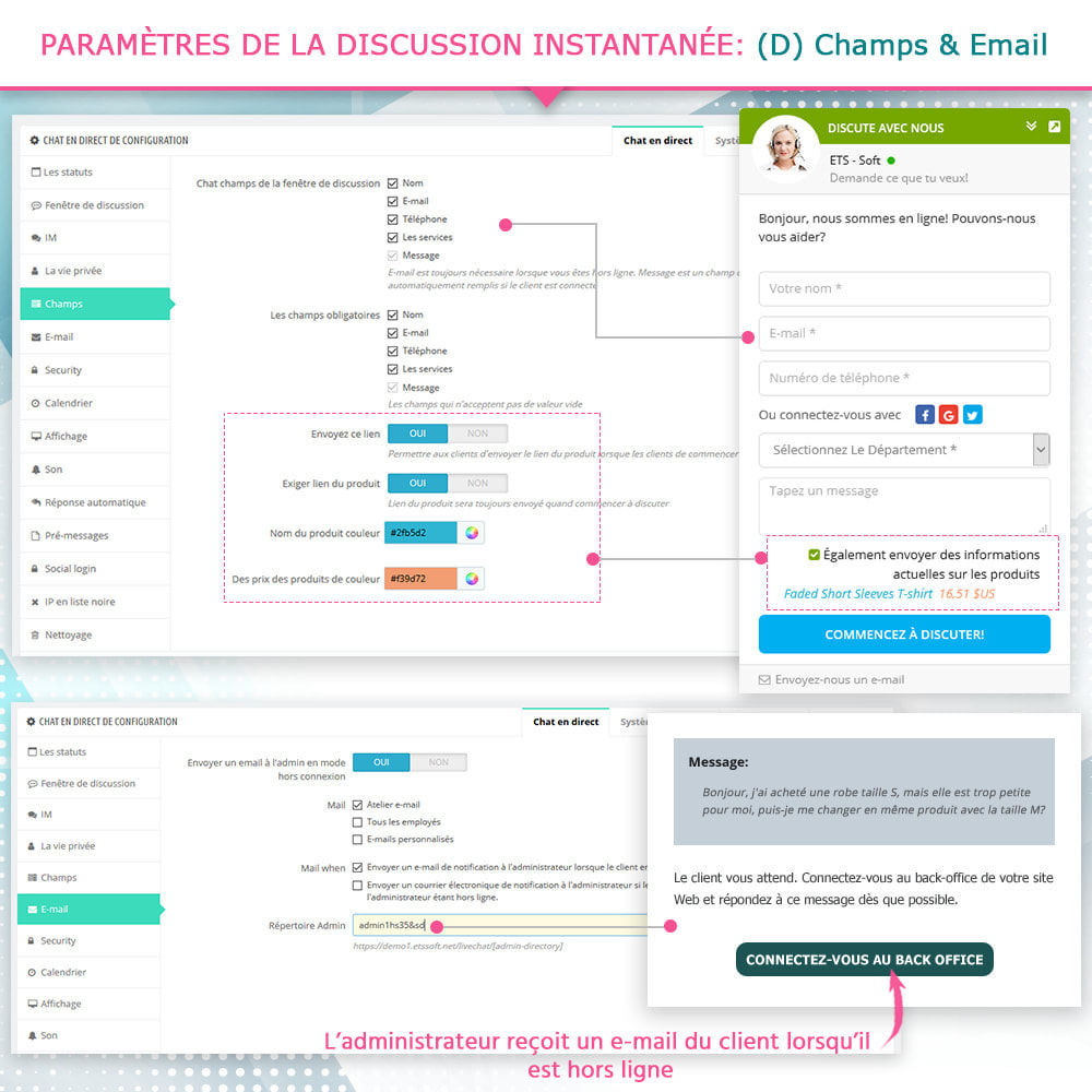 module - Support & Chat Online - Chat en direct et Système de tickets - 7