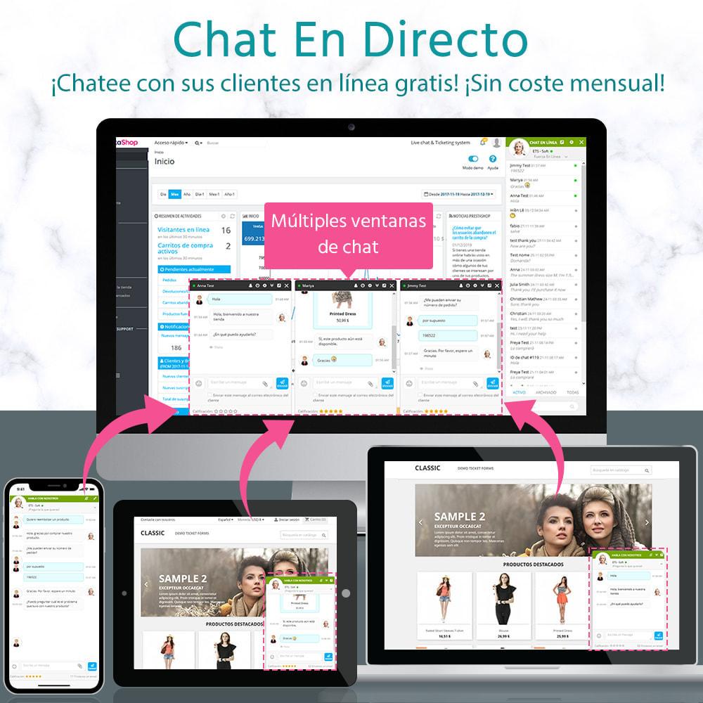 module - Asistencia & Chat online - Chat en directo y Sistema de incidencias - 1