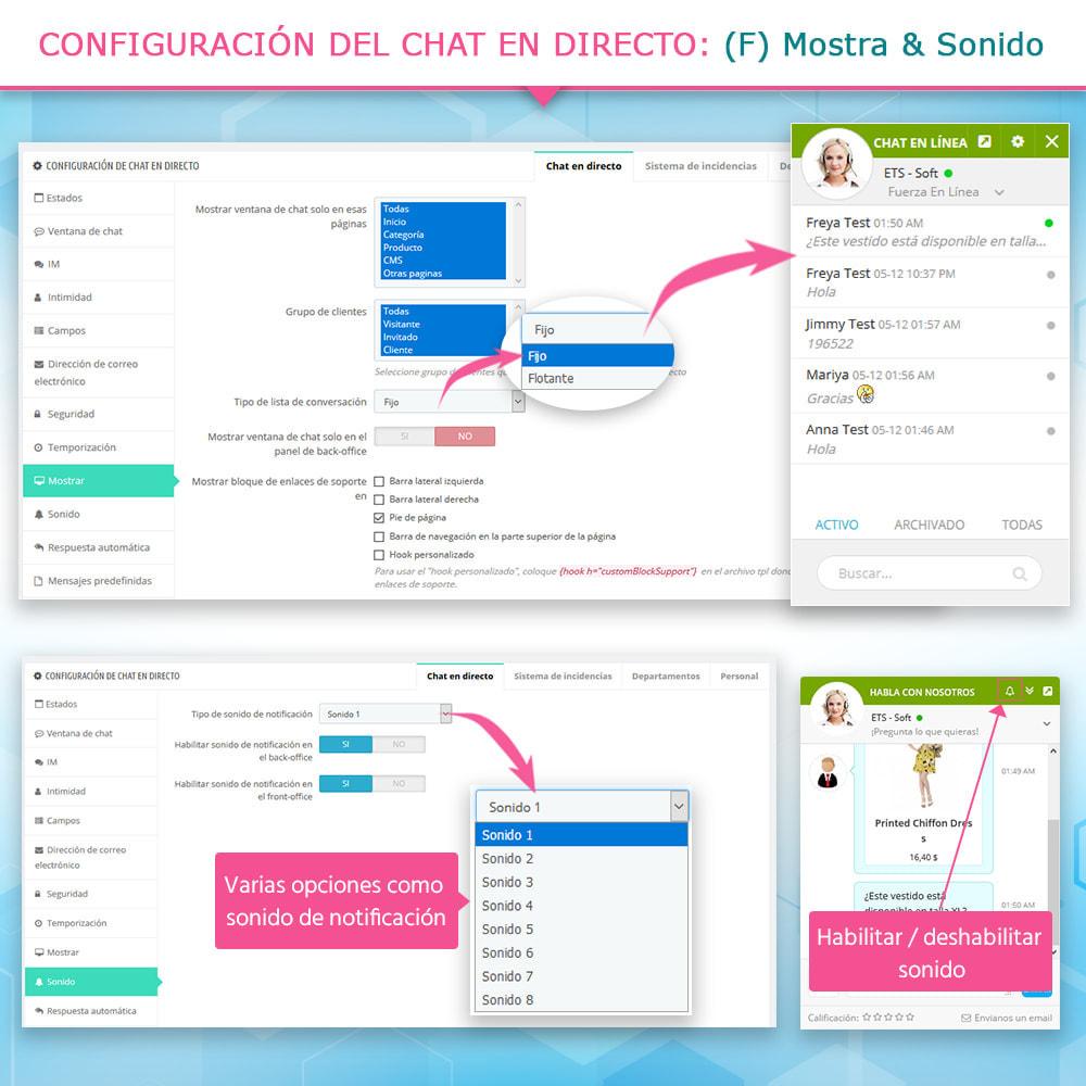 module - Asistencia & Chat online - Chat en directo y Sistema de incidencias - 9