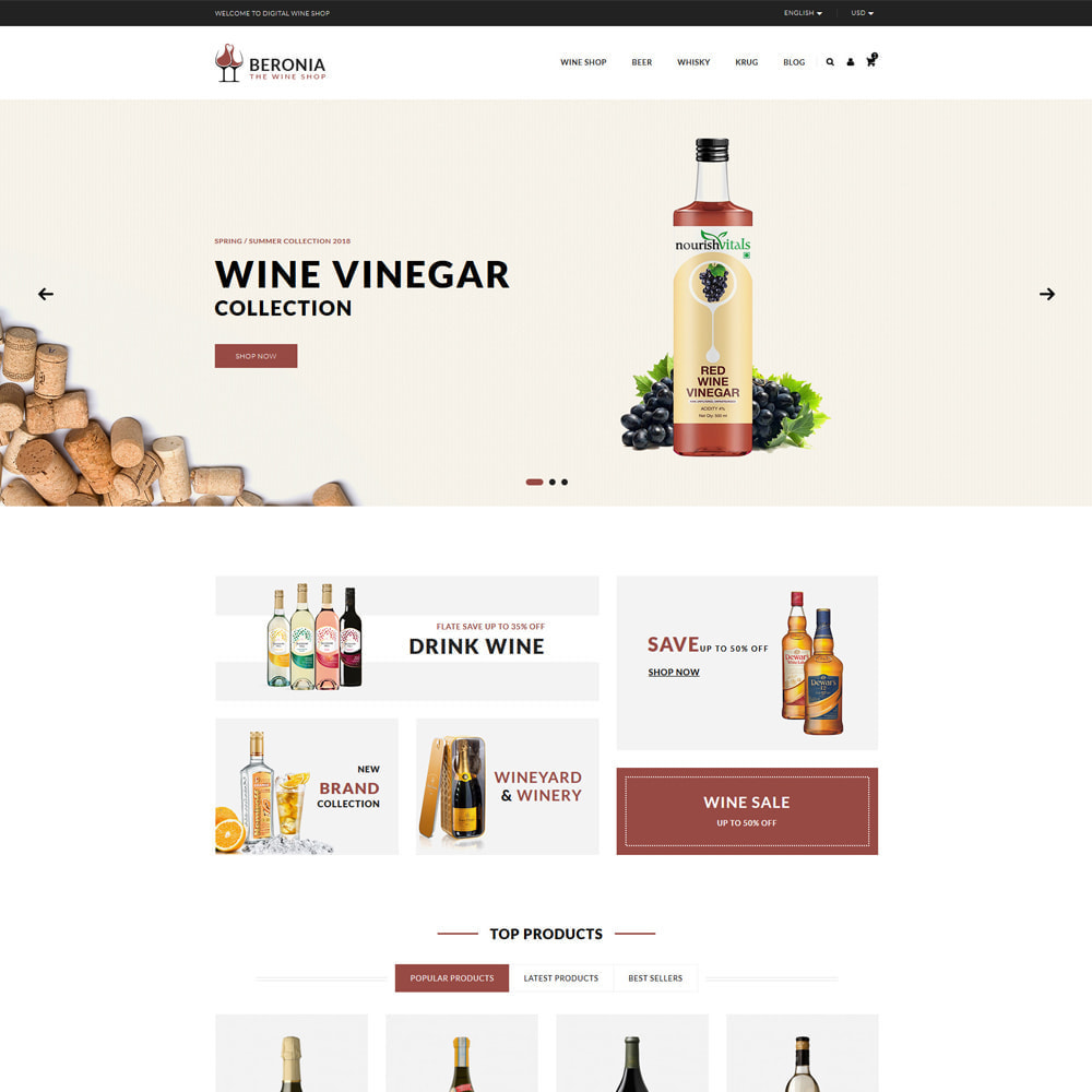 theme - Drink & Wine - Beronia Drink & Tobacco Shop - 2