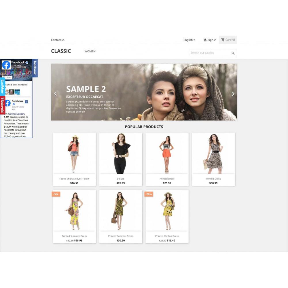 module - Widgets sozialer Netzwerke - Social Widgets + Buttons 3 in 1 - 2