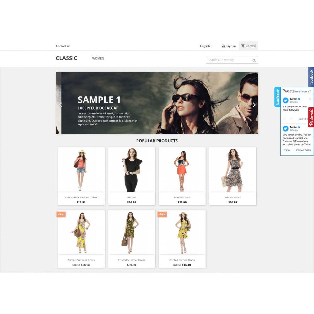 module - Widgets sozialer Netzwerke - Social Widgets + Buttons 3 in 1 - 3