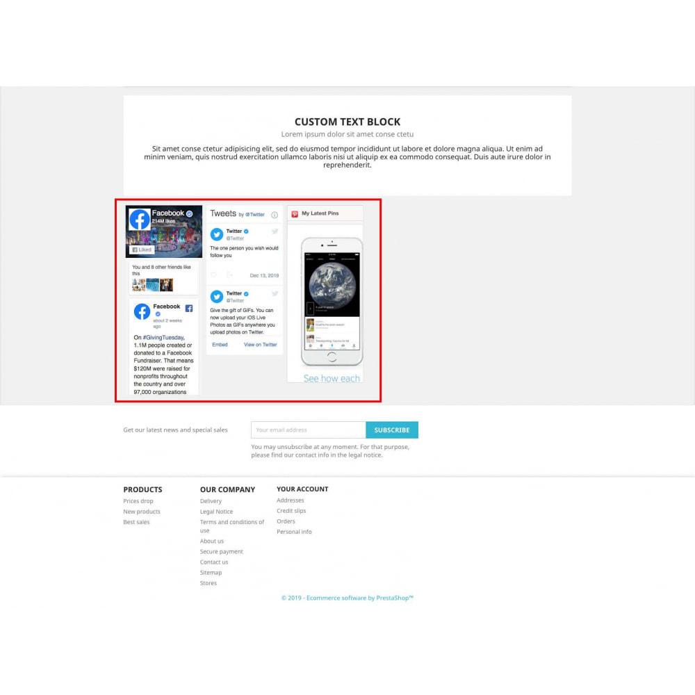 module - Social Widget - Social Widgets + Buttons 3 in 1 - 7